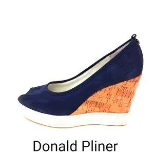 Donald J. Pliner Carli Peep Toe Wedge Pumps 6